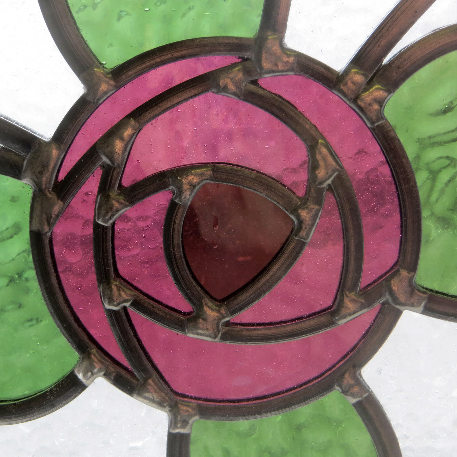 Mackintosh Rose Stained Glass Panel From Period Home Style