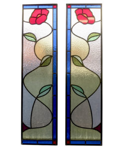 Traditional Simple Stained Glass Panel