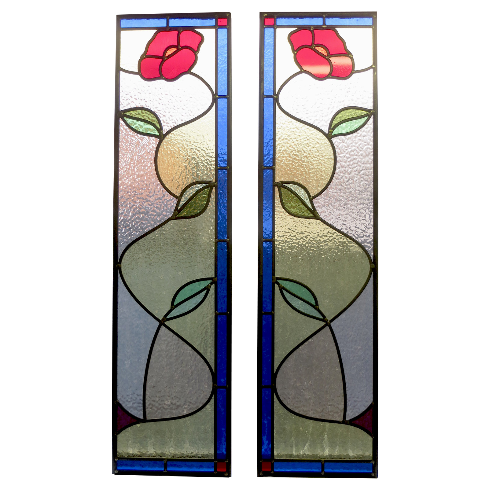 Home Decor Flash Sales Traditional Simple Stained Glass Panel From Period Home
