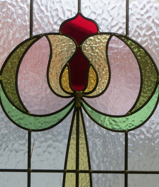 Art Nouveau Tulip Stained Glass