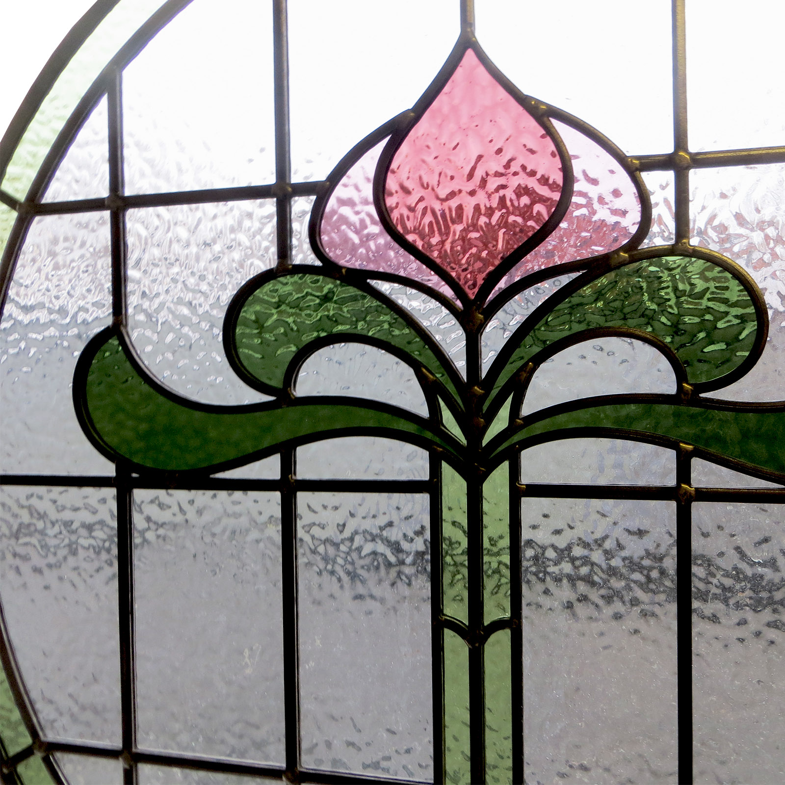 1930s art nouveau stained glass from period home style for 1930s stained glass window designs