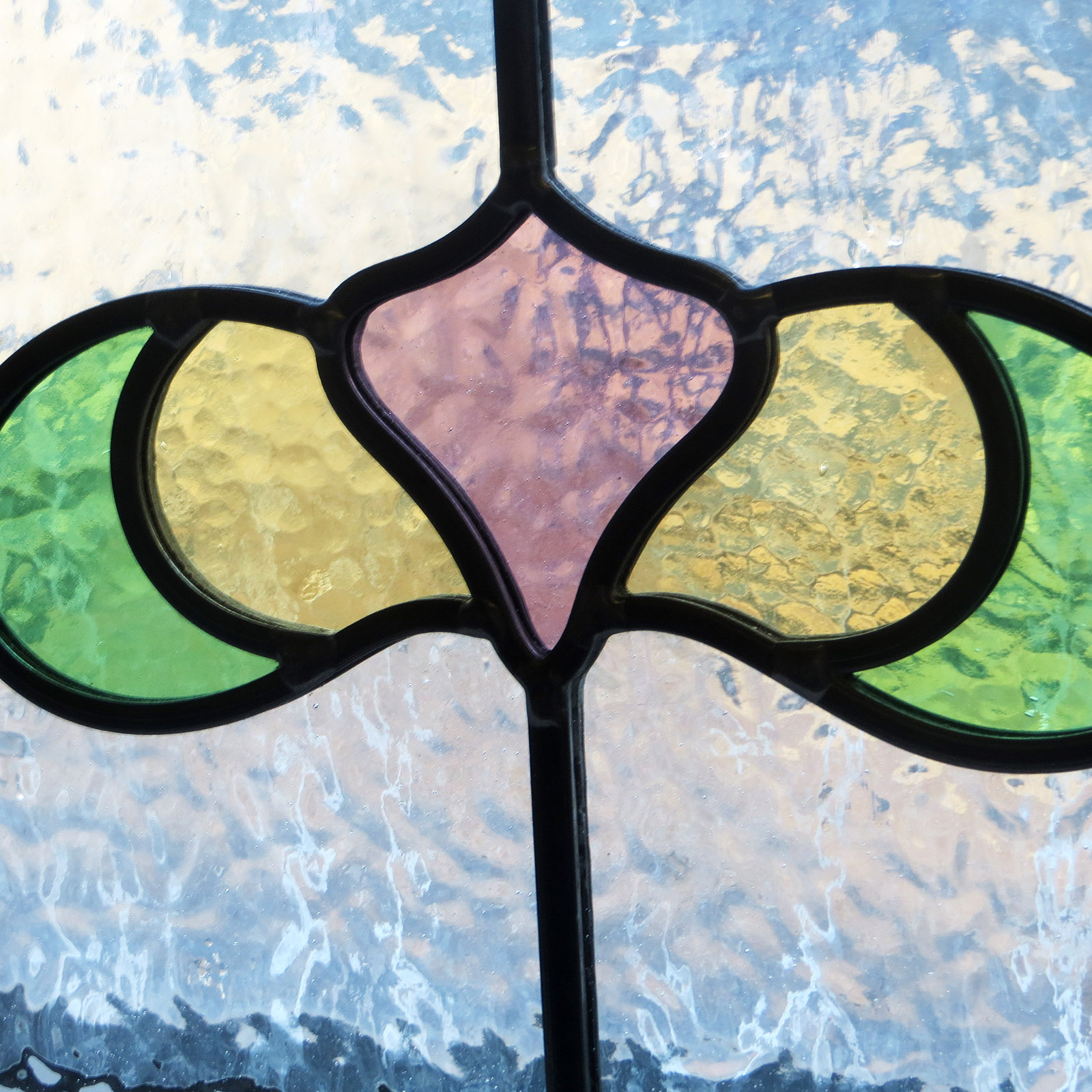Simple Art Nouveau Stained Glass Panels From Period Home