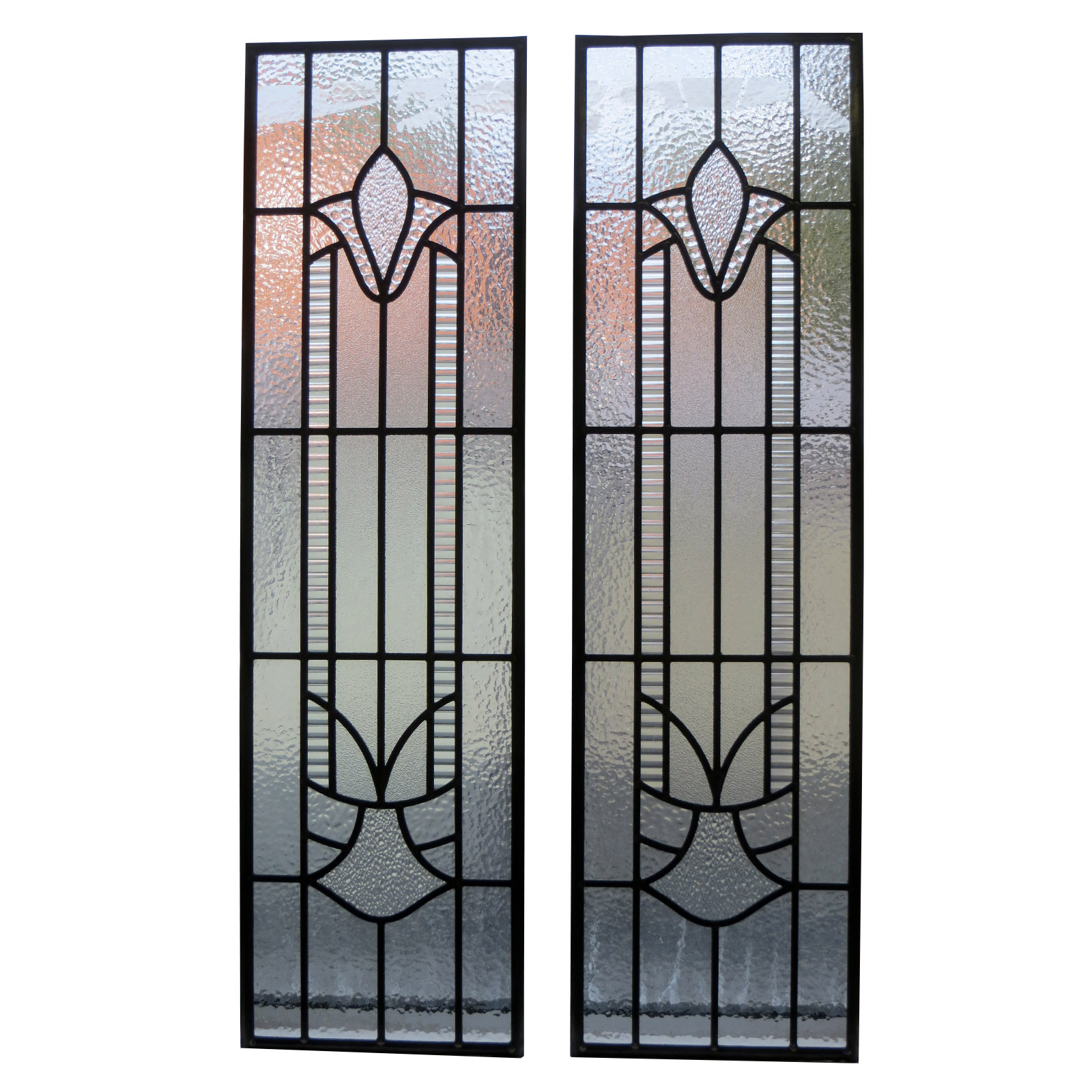 Traditional art deco stained glass panels from period for Art deco interior and panel designs
