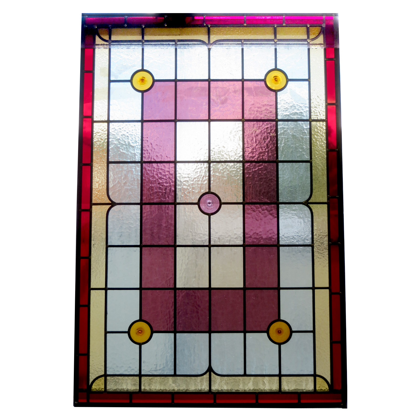 Simple contemporary stained glass panels from period for Glass panel design