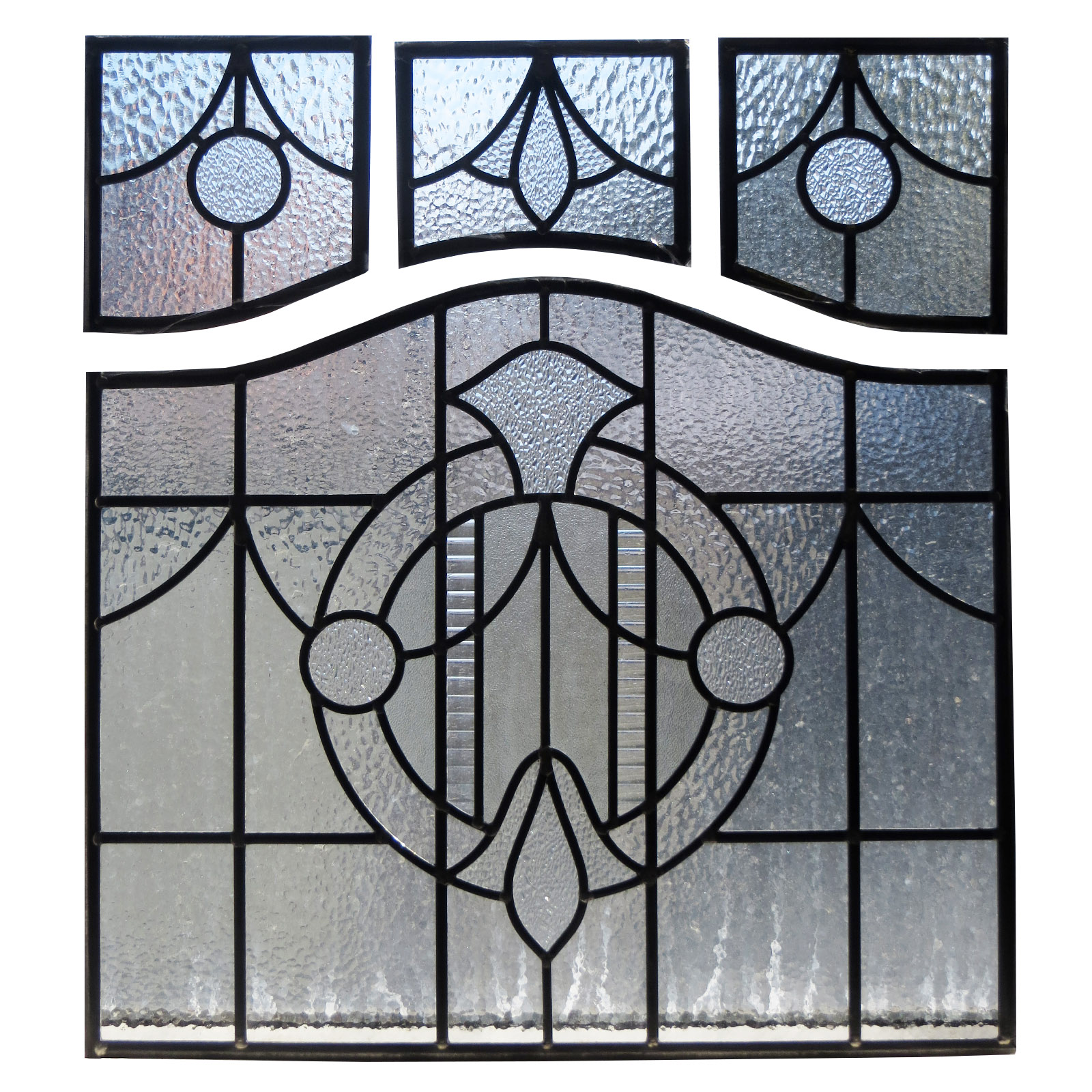 1930s art deco stained glass panels from period home style for 1930s stained glass window designs