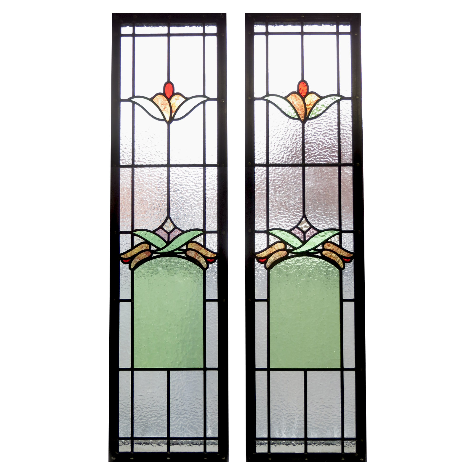 art deco stained glass panels from period home style. Black Bedroom Furniture Sets. Home Design Ideas