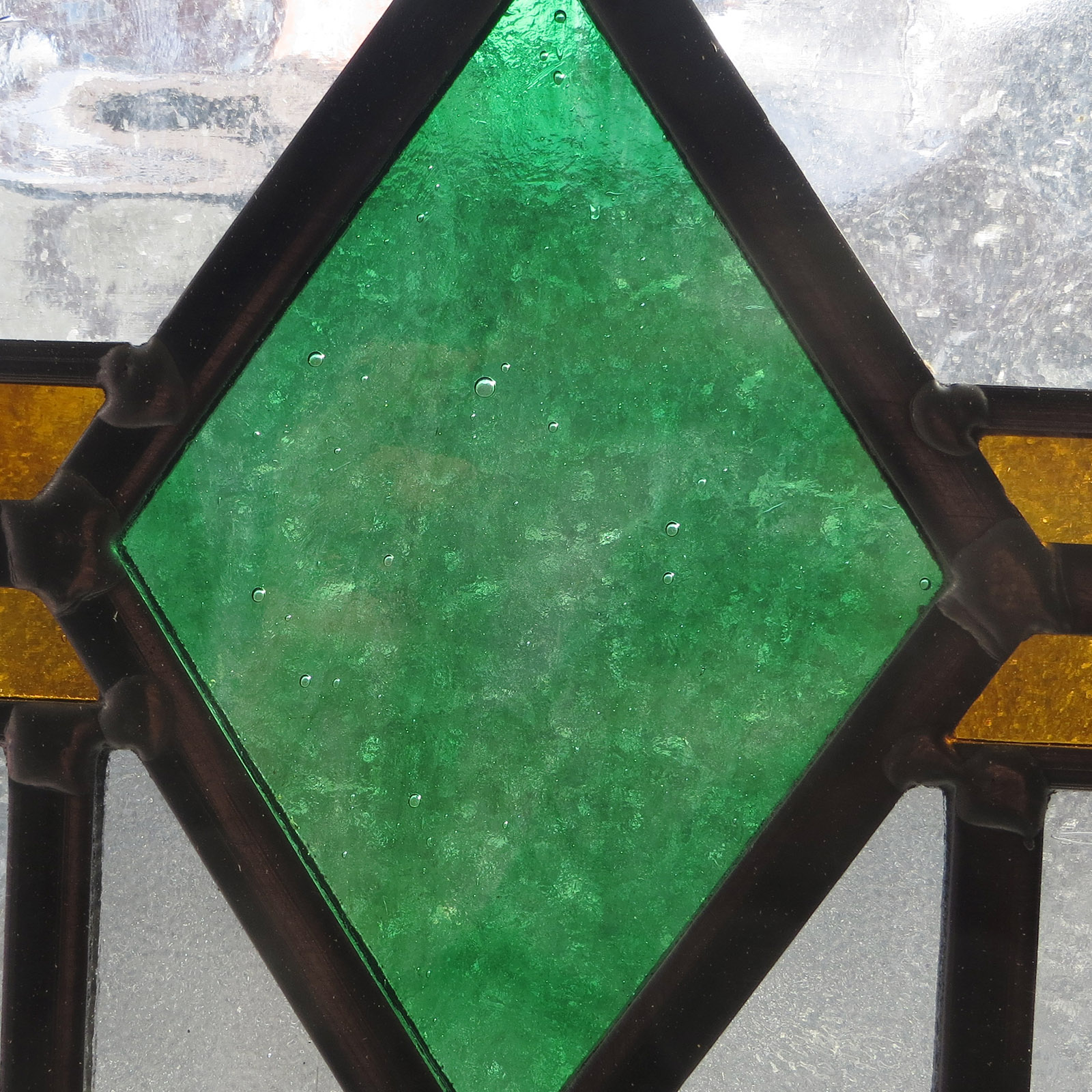 Art Deco Stained Glass 1930s Panel From Period Home Style