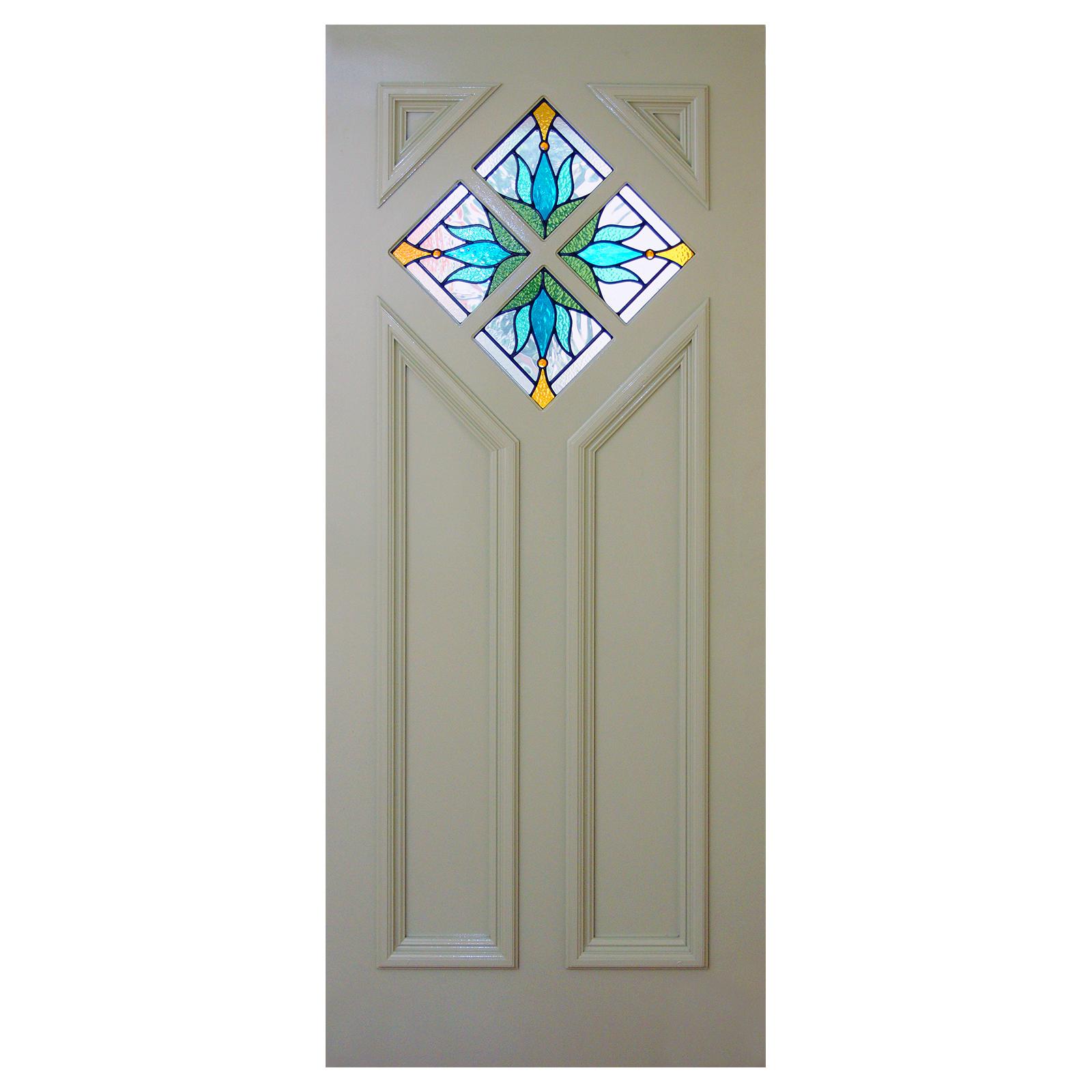 Hardwood Diamond Top Panel Door 1930sart Deco Period Home Style