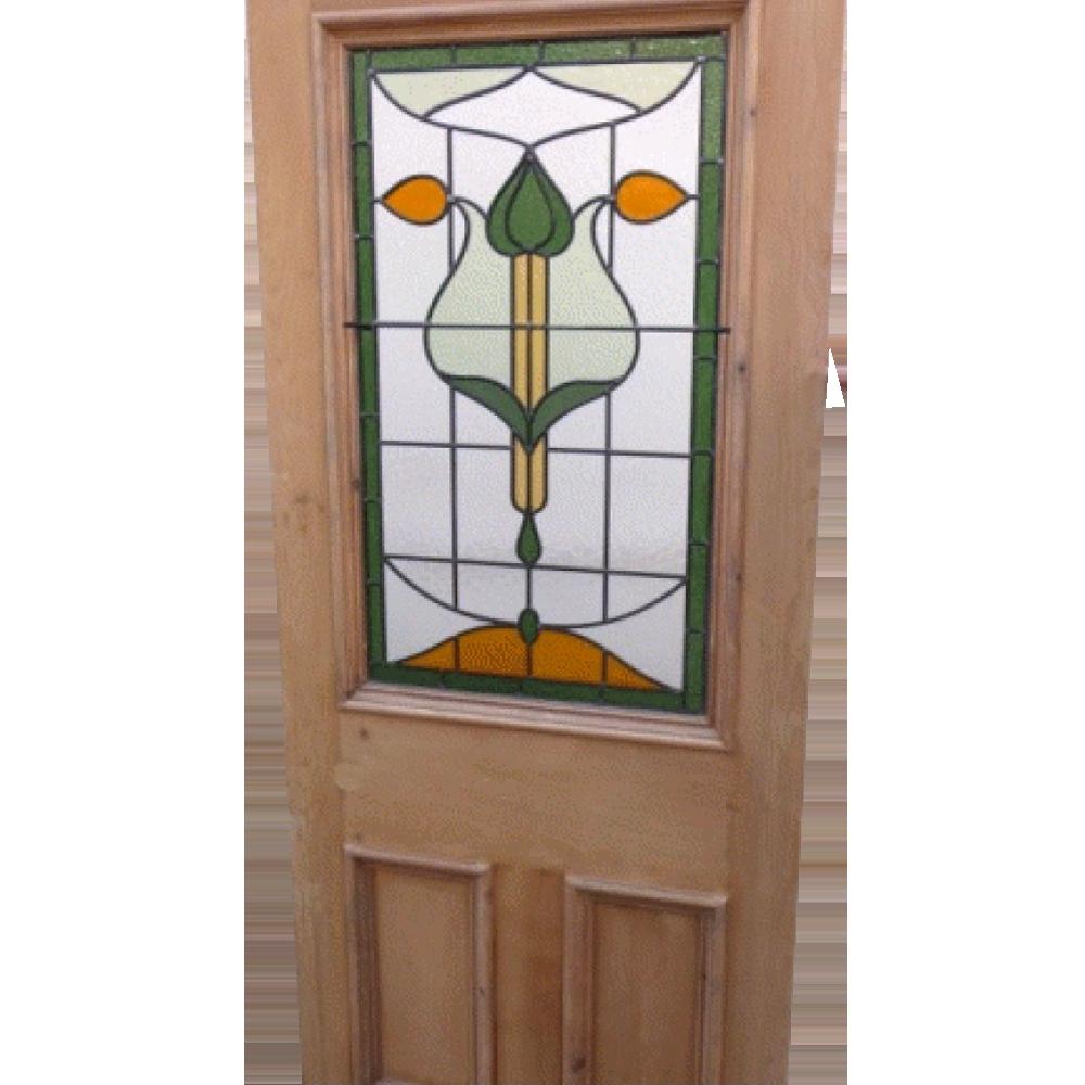 Satin Glass Door : Original art nouveau stained glass door buy from phs