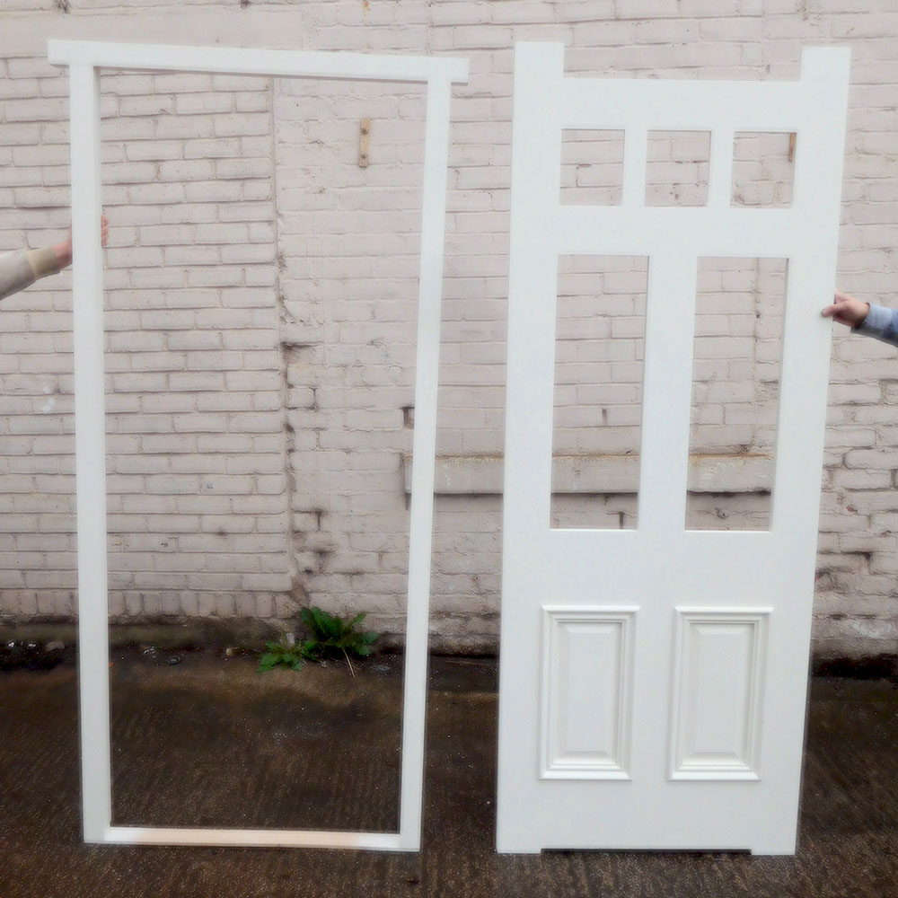 Standard exterior door frame buy from period home style for Front door and frame