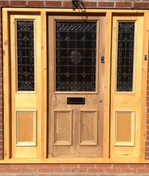 Exterior Door Frame With Panels (2 Sides)
