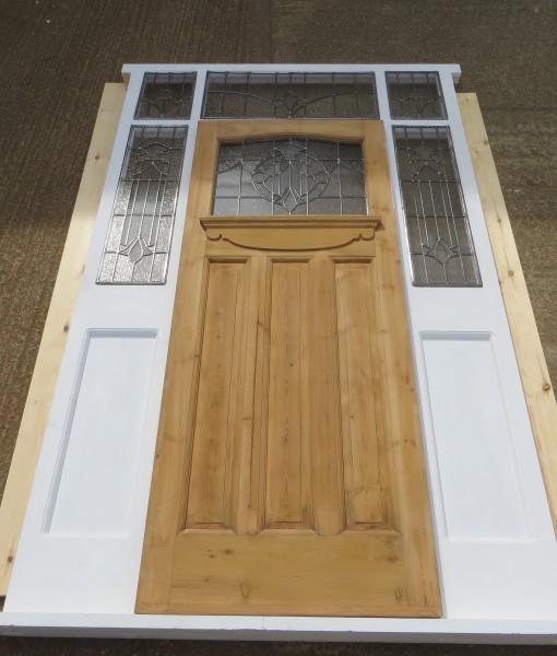 Exterior Door Frame With Panels & Overhead