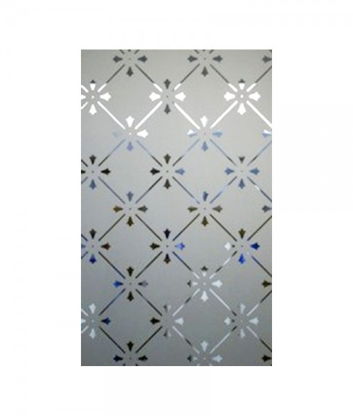 Fleur Etched Glass Panel