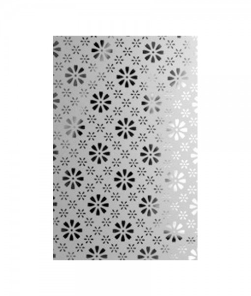 Daisy Etched Glass Panel