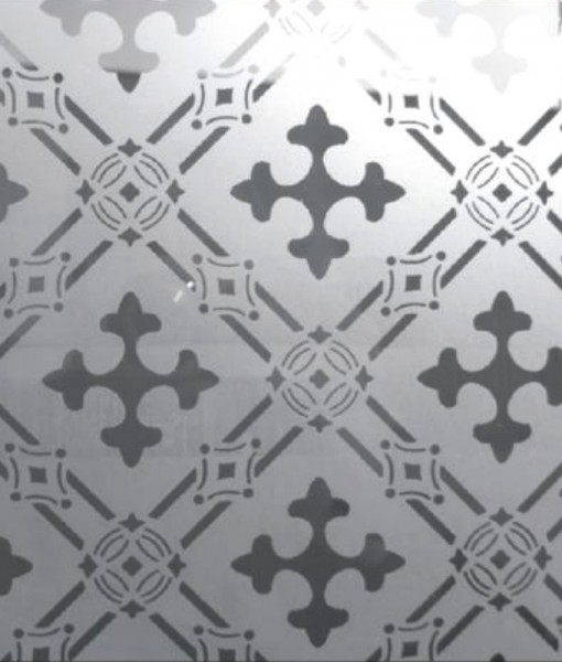 Druids Cross Etched Glass Panel