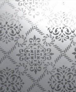 Victoria Etched Glass Panel