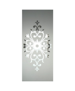 Etched Centre Glass Panel