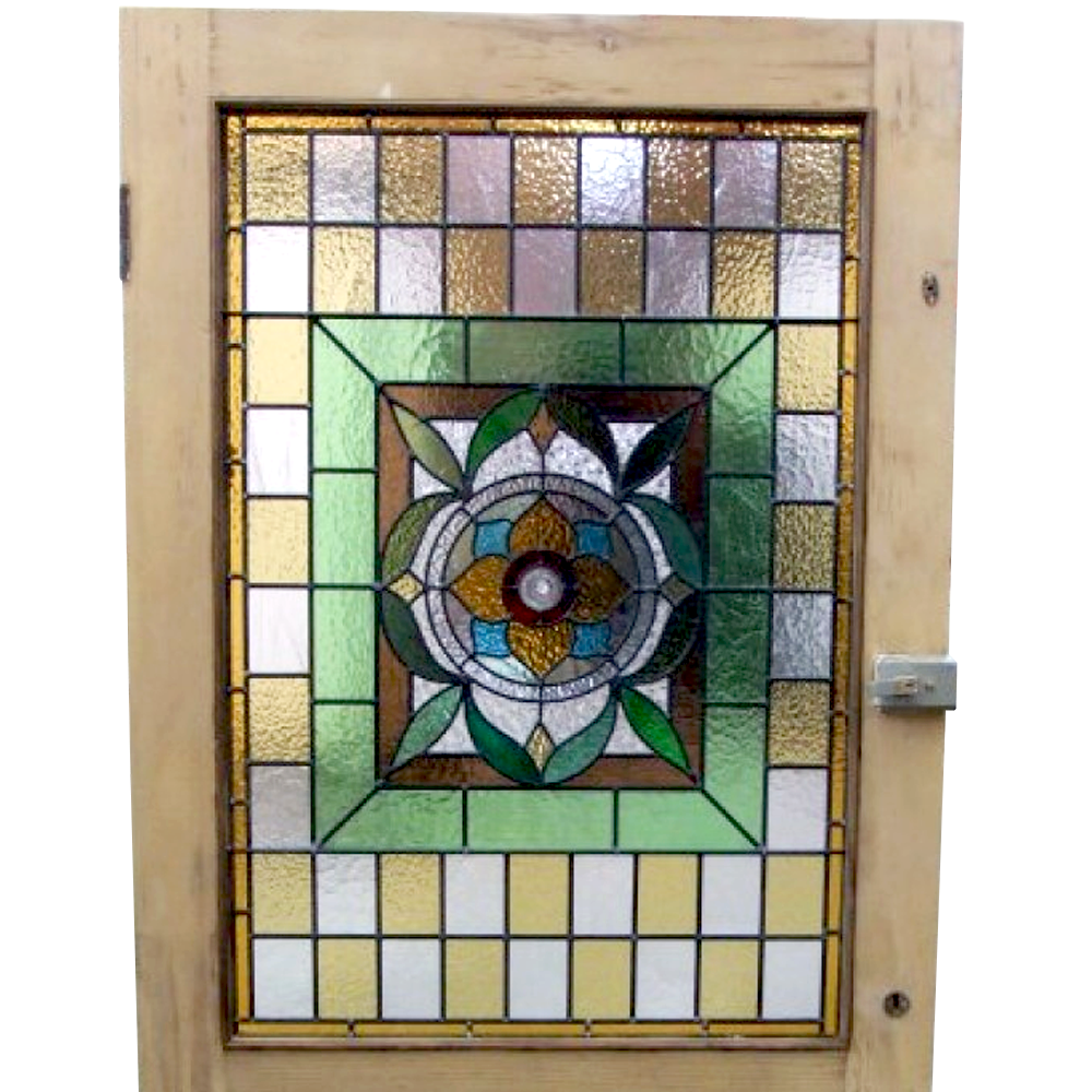 3 Panel Stained Glass Door Buy From Period Home Style