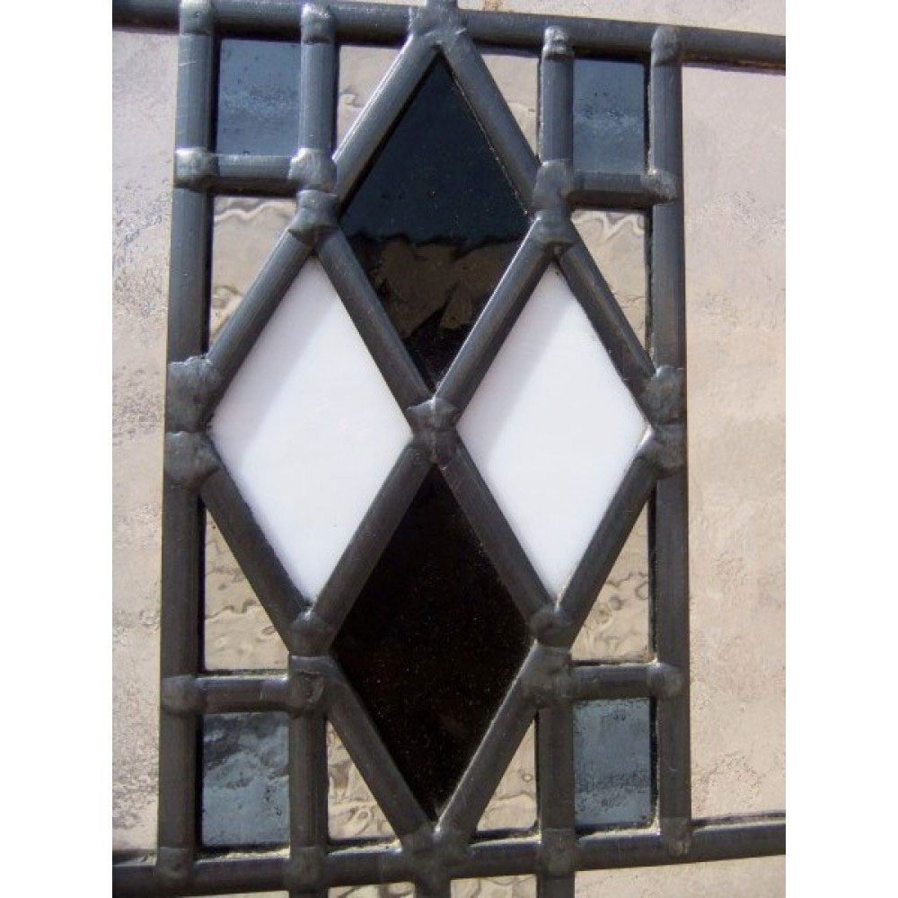4 Panel Art Deco Stained Glass Door