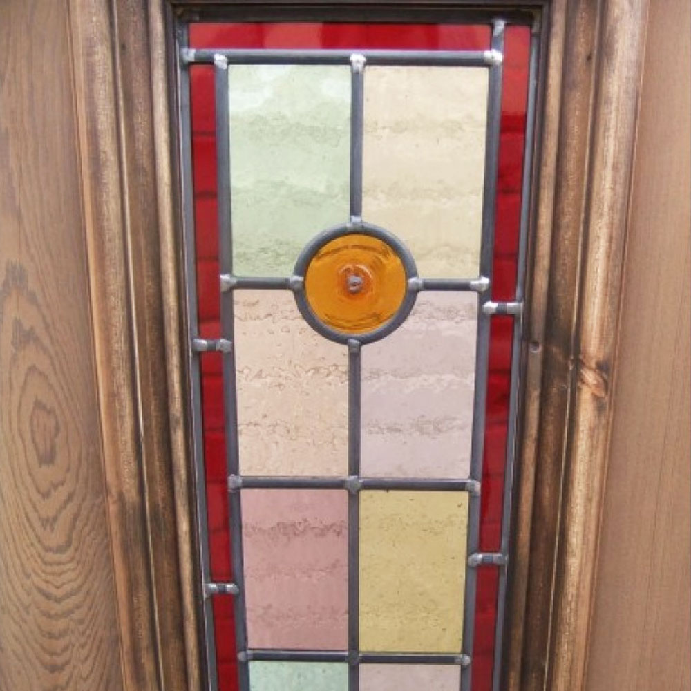 7 Panel Bullseye Stained Glass Door Period Home Style
