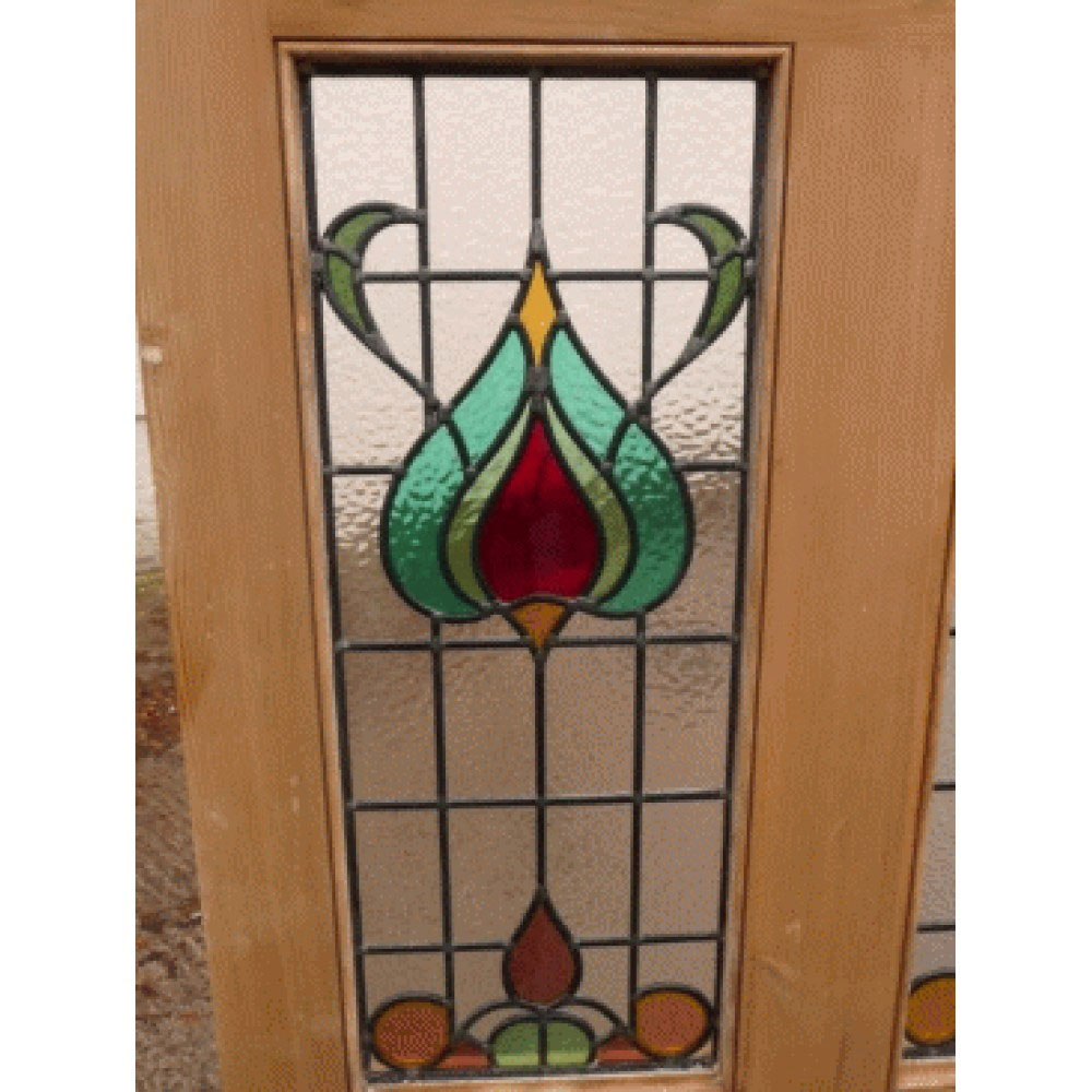 5 Panel Art Nouveau Stained Glass Door Buy From Phs