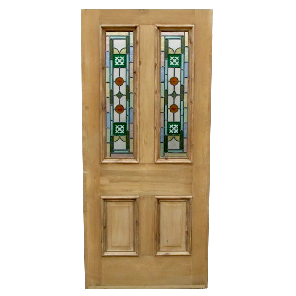 4 panel kyle stained glass door from period home style for Glass doors for home