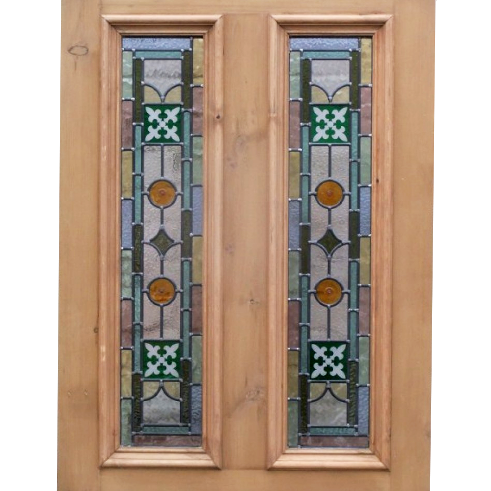 4 panel kyle stained glass door from period home style for 2 pane window