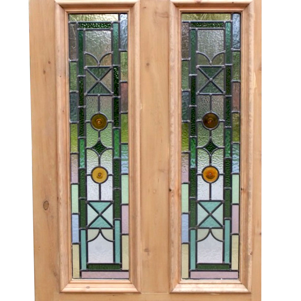 Kyle 4 Panel Stained Glass Door For Sale Period Home Style