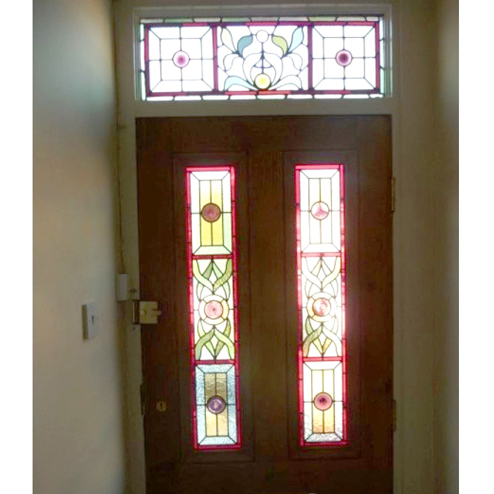 4 Panel Leaf Stained Glass Door From Period Home Style