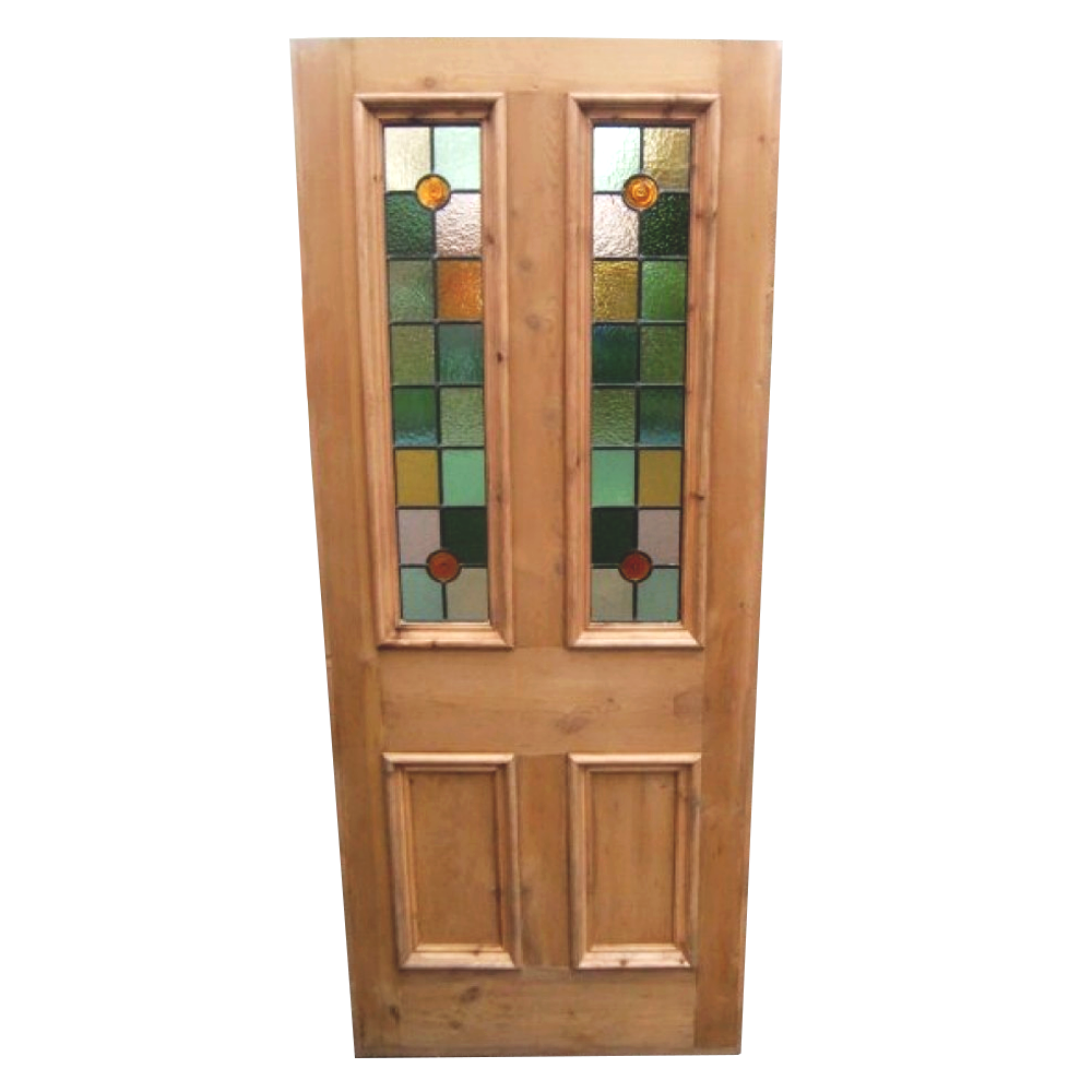 Victorian 4 Panel Stained Glass Door Period Home Style
