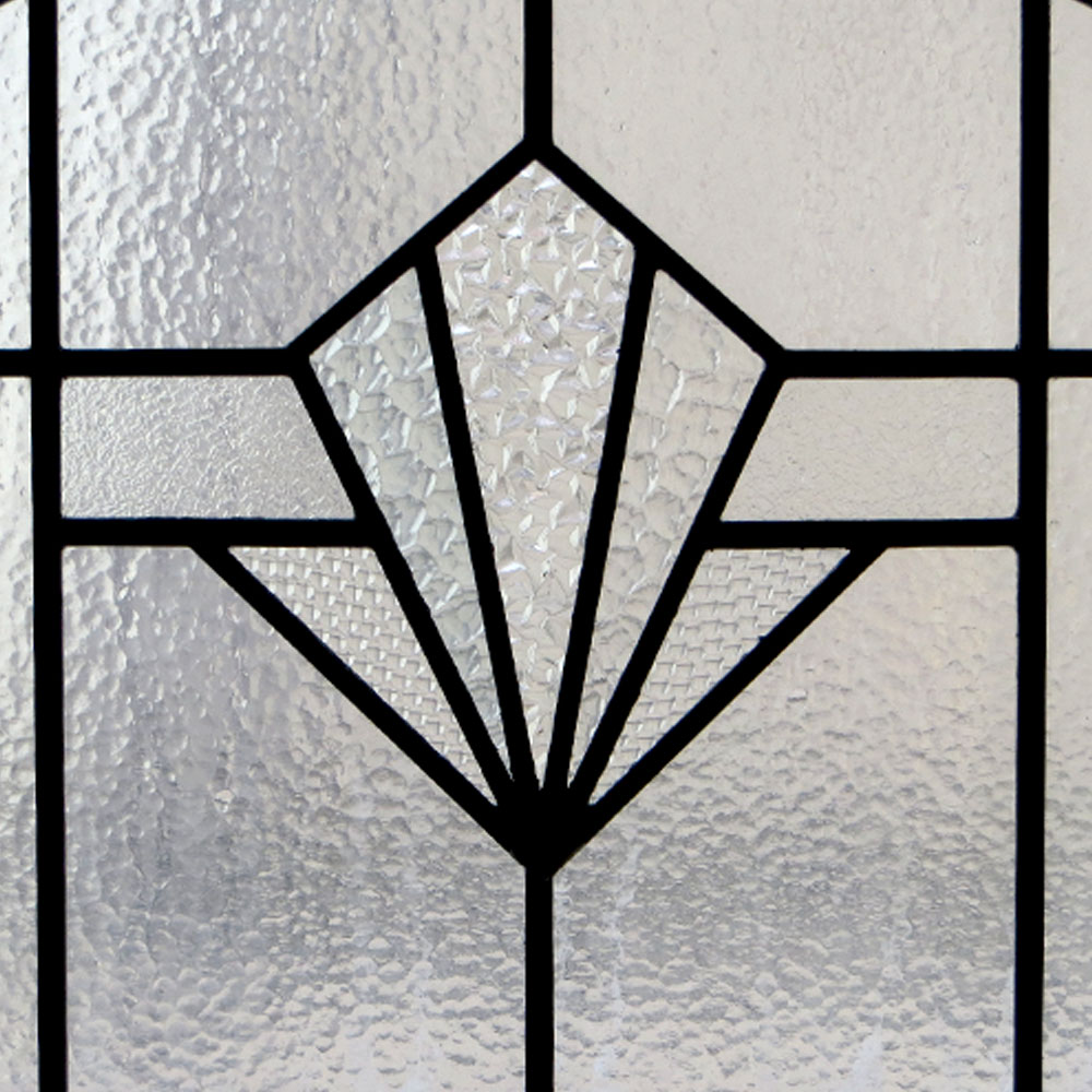 plain art deco stained glass panel from period home style. Black Bedroom Furniture Sets. Home Design Ideas