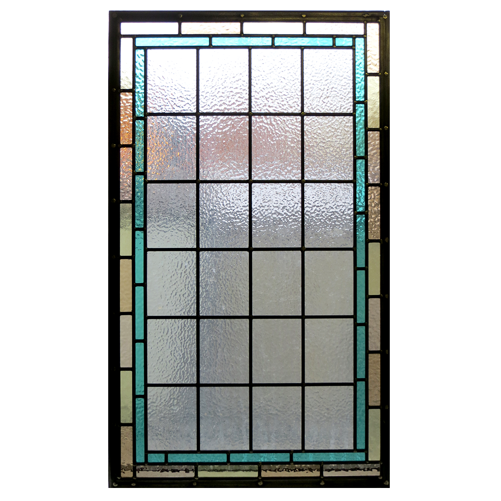 Bathroom cabinet with glass doors - Contemporary Stained Glass Panels From Period Home Style