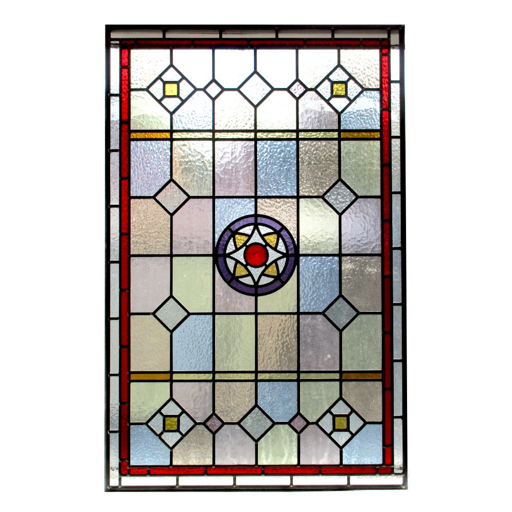 Original Victorian Stained And Painted Glass