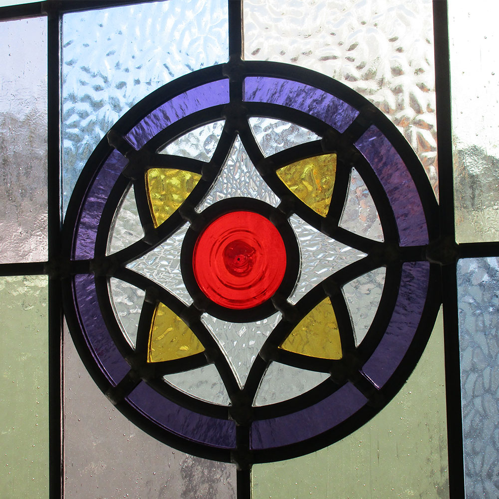 Intricate Victorian Stained Glass Panel From Period Home