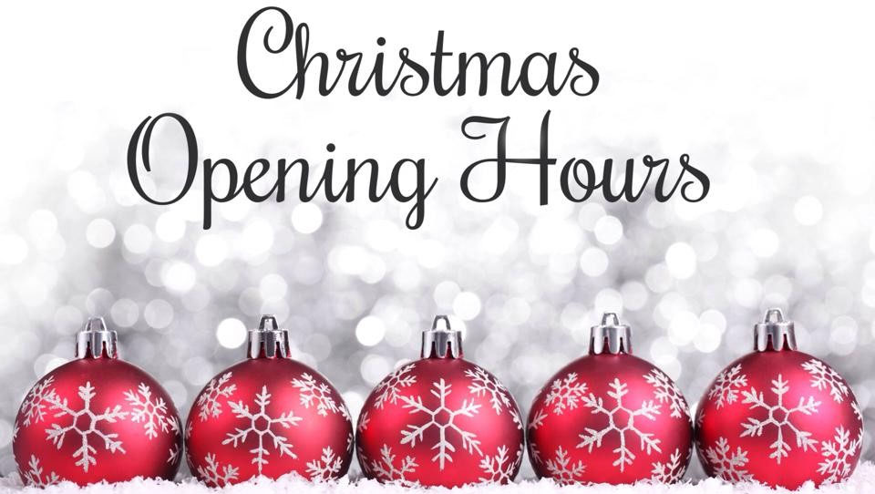 Christmas Opening Hours Period Home Style