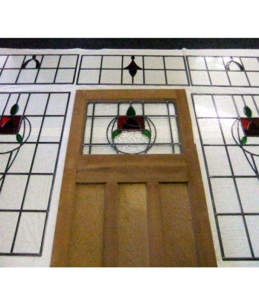 1930s Period Stained Glass Door
