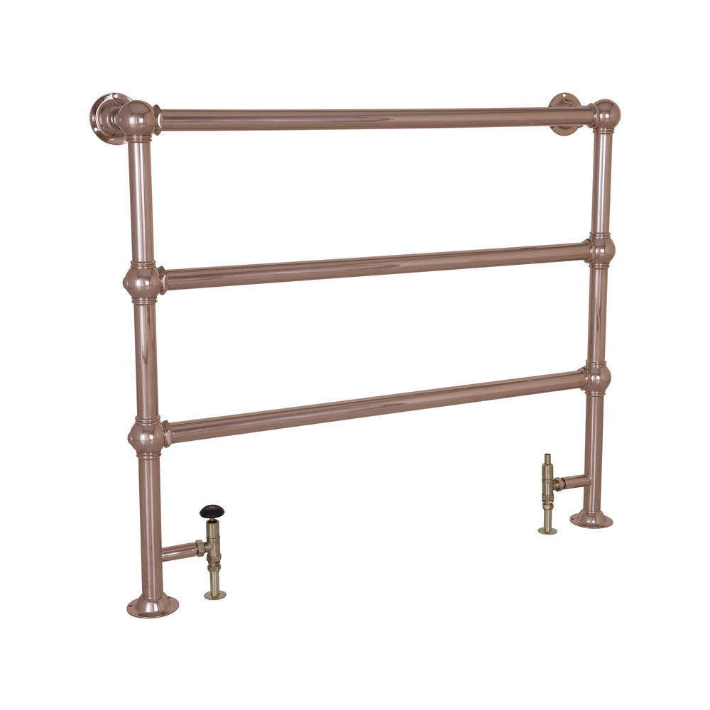 Colossus Steel Towel Rail Copper Finish