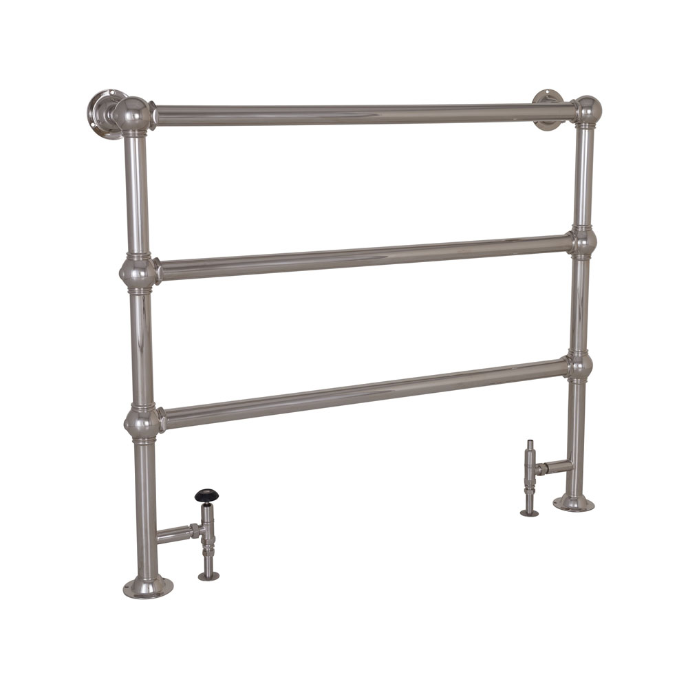 Colossus Steel Towel Rail Nickel Finish