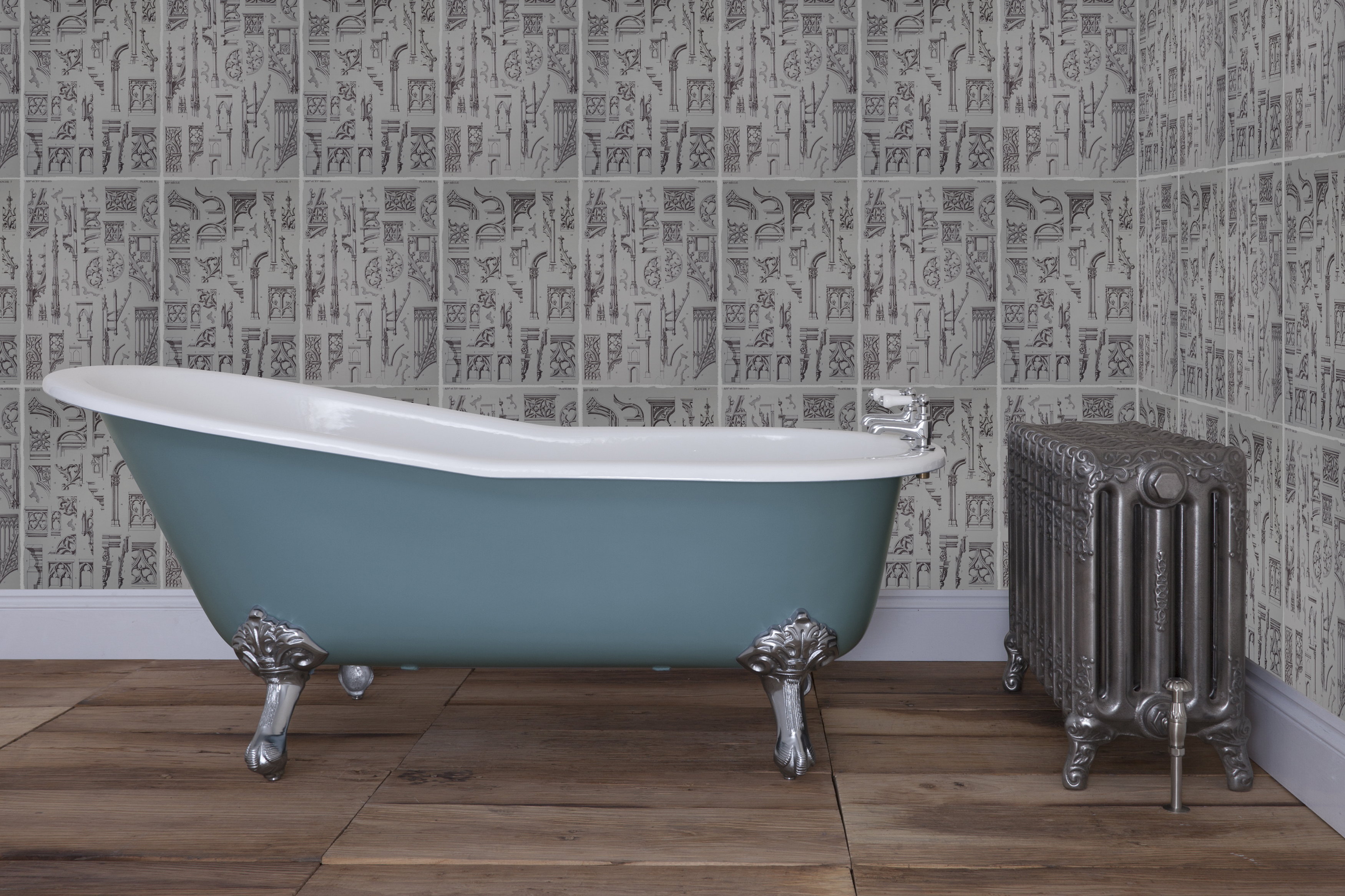 Beaulieu cast iron bath from period home style