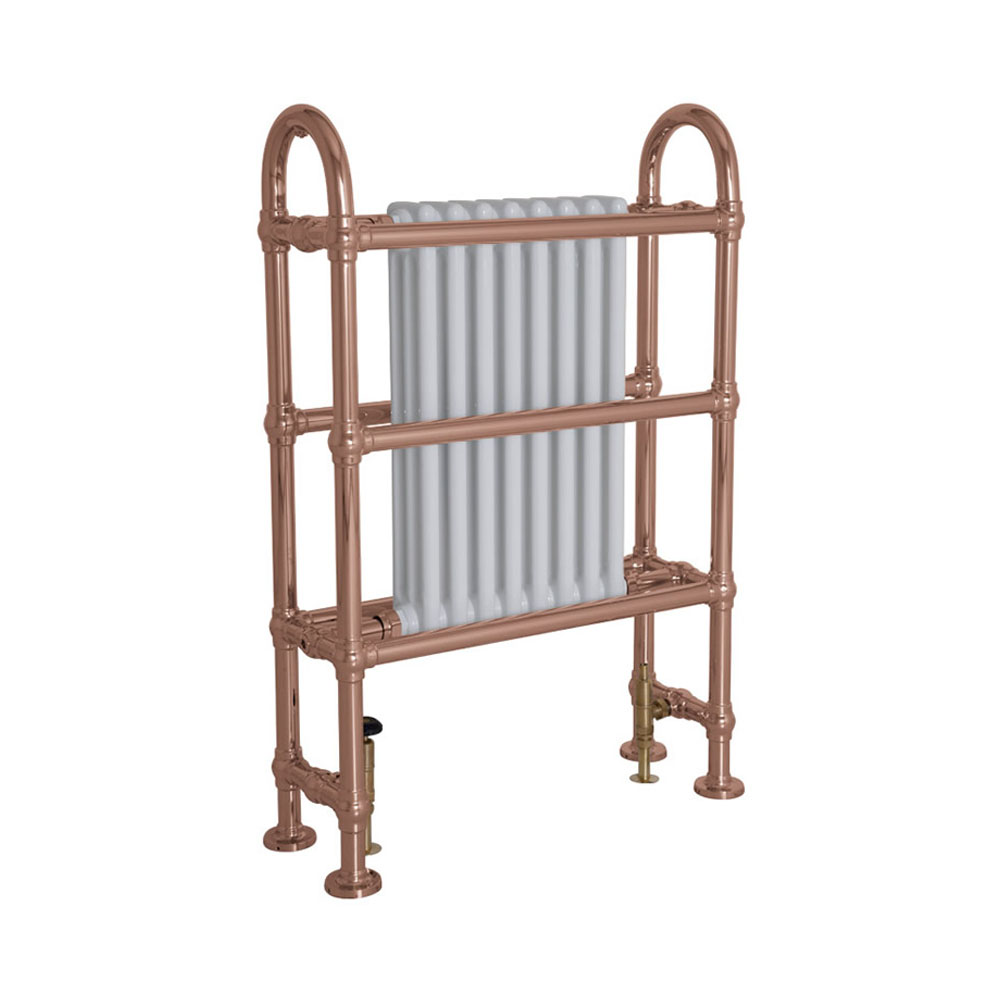 Horse Steel Towel Rail Copper Finish