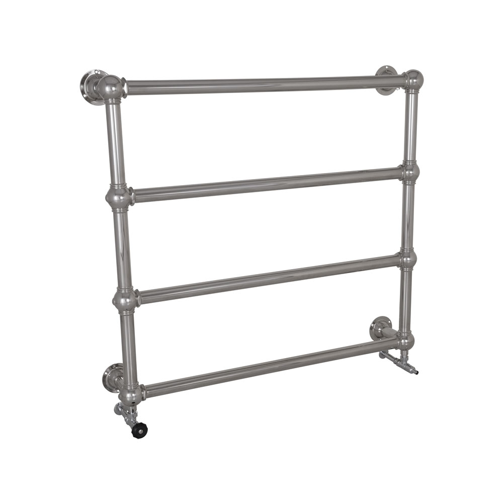 Large Colossus Steel Wall Mounted Towel Rail Chrome Finish