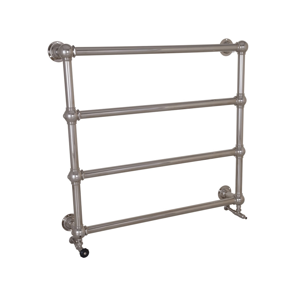 Large Colossus Steel Wall Mounted Towel Rail Nickel Finish