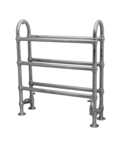 Small Colossus Steel Wall Mounted Towel Rail Chrome Finish