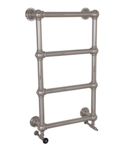Small Colossus Steel Wall Mounted Towel Rail Nickel Finish