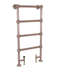Small Steel Towel Rail Copper Finish