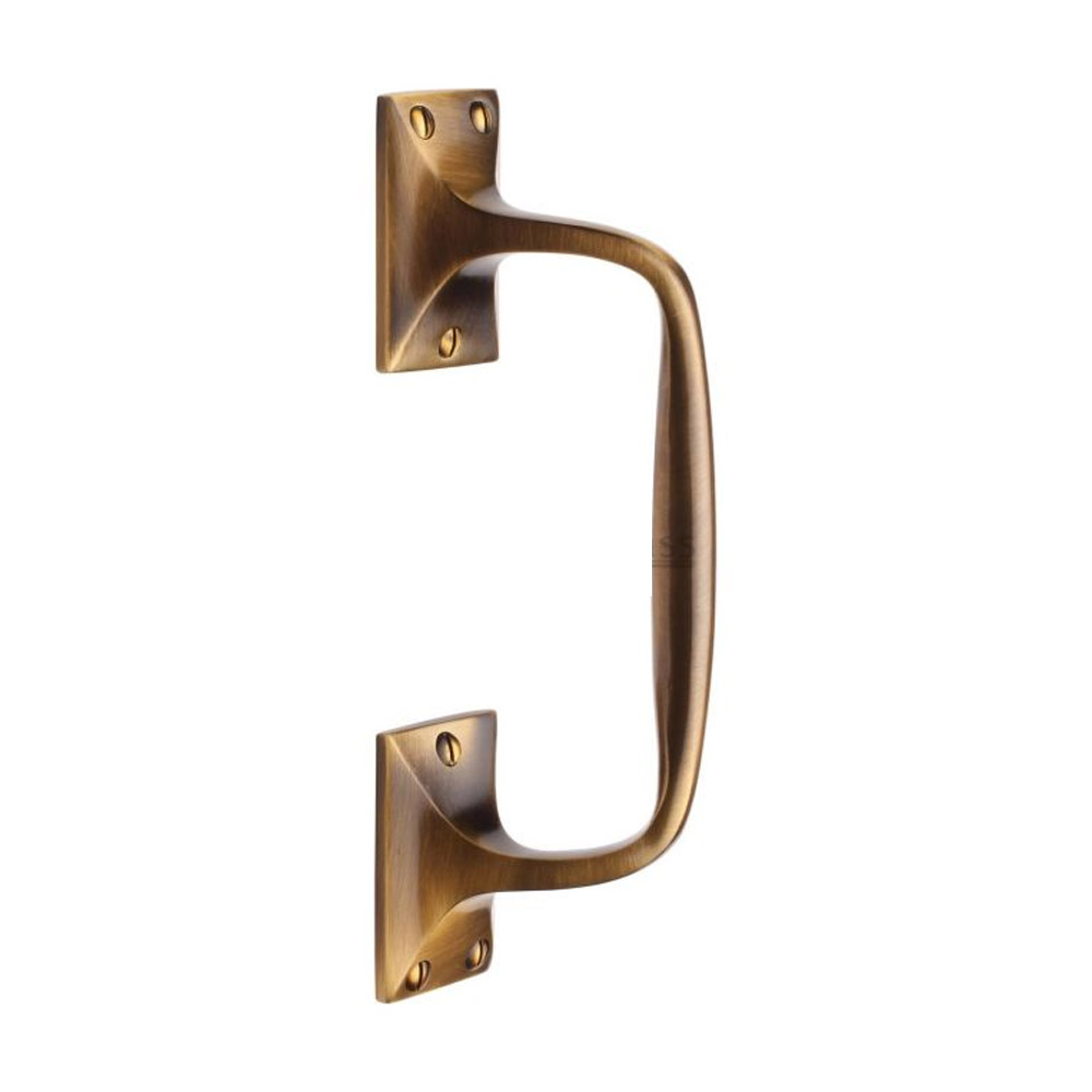 Cranked Pull Handle 202mm Multiple Finishes Period