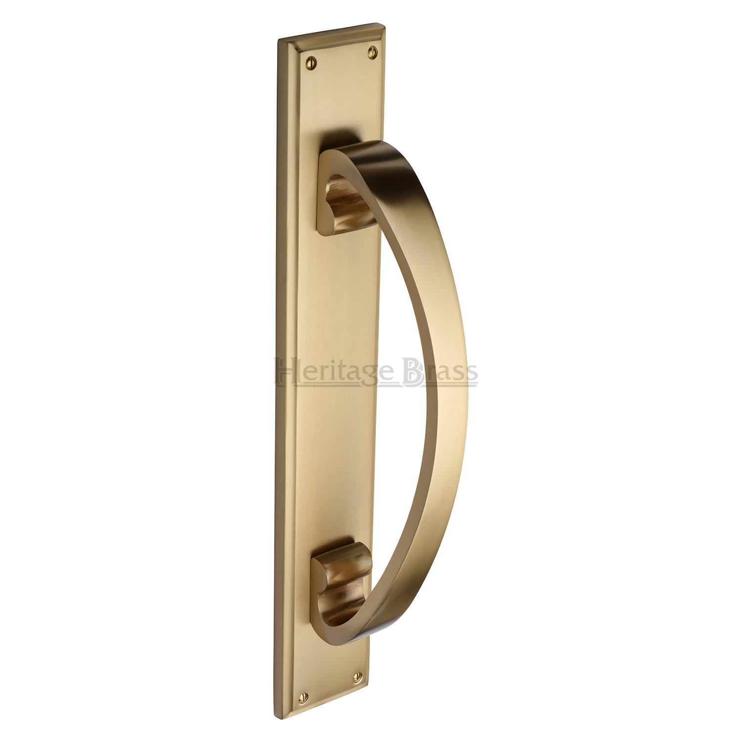 Door Pull Handle On Plate Multiple Finishes Period