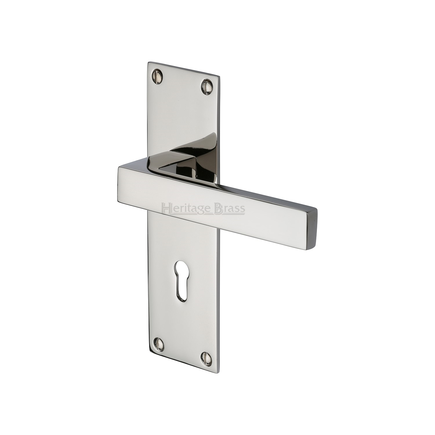 Metro Door Handle Lock Latch Bath Euro Period Home Style