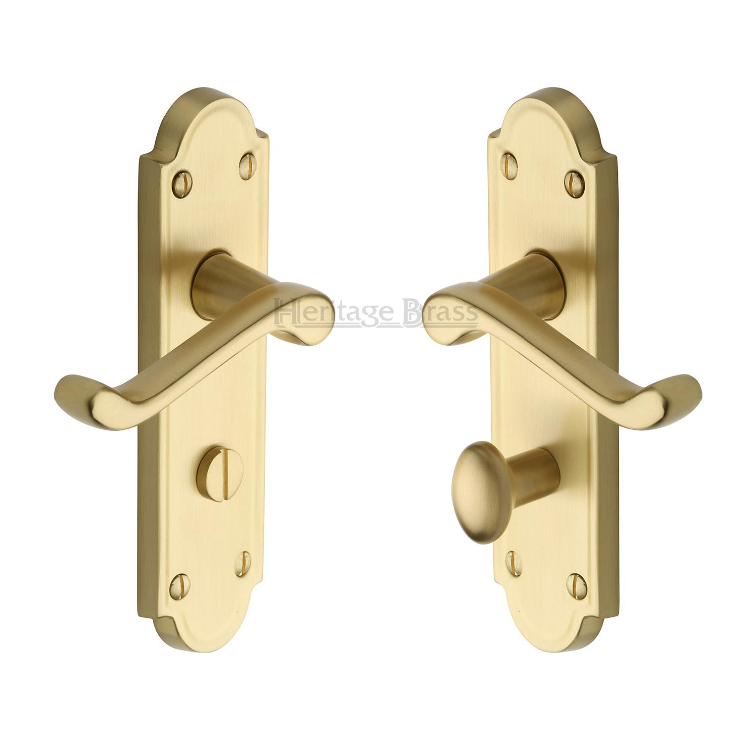 Meridian Door Handle Lock Latch Bath Euro Period Home