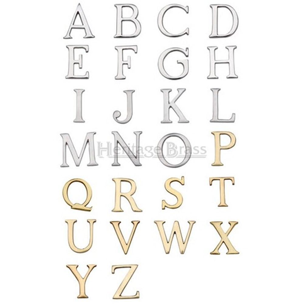 Letter 1st ALPHABET HOUSE DOOR Sign BRASS Letters Y